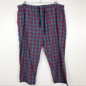 "💝 Hanes Men's Plaid Pajama Lounge Pant 2X 26""L"